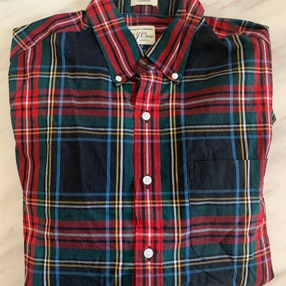 J. Crew Plaid secret wash Button Up Shirt Small $69.50